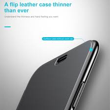 Baseus Flip Touchable Case For iPhone X Tempered Glass Cover