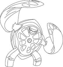 Terraspin From Ben 10 Ultimate Alien Colouring Page