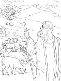 Moses Sees The Burning Bush Coloring Page From Category Select 27278 Printable Crafts Of Cartoons Nature Animals Bible And Many More