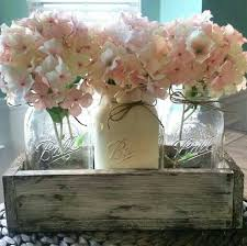 Mason Jar Centerpiece Distressed Rustic Cottage Chic Spring Floral Southern