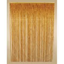 Bamboo Beaded Curtains Walmart by Natural Bamboo Beaded Curtain Hanging Doorway Screen Walmart Com