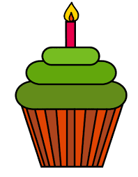 Green cupcakes clipart