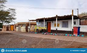 100 Houses In Chile A Street San Pedro De Atacama With The Typical Adobe