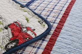 Vintage Fire Truck Striped Boys Bedding Twin Full/Queen Quilt Set ... Kidkraft Fire Truck Toddler Bedding 77003 99 Redwhiteblue Baby Quilt Unavailable Launis Rag Firetruck Police Car And Ambulance Panel Amazoncom Carters 4 Piece Bed Set Dalmatian Fighter Crib Adorable Puppy Dalmatians Red White Blue At Artisans Folk Art Antiques Outsider Fireman Engines Trucks On Black Novelty Fabric Fat Boys Firefighter Dog 13 Pc Rescue Perfect Set For A Little Boys Room Kids Home Vintage Twin