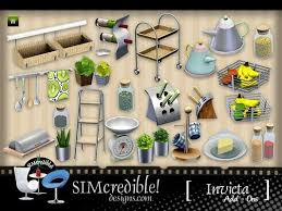 Sims 3 Decor Decoration Objects Kitchen Clutter