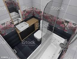 3d small bathroom design stock photo image now