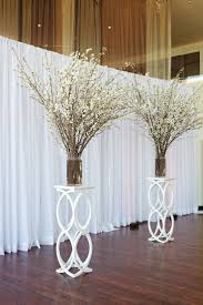 White Flower Branches Wedding Backdrop