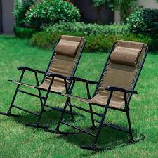 LOKATSE HOME Outdoor Patio Folding Zero Gravity Rocking Chair Set With 2  Portable Camping Recliners, Brown Flamaker Folding Patio Chair Rattan Foldable Pe Wicker Outdoor Fniture Space Saving Camping Ding For Home Retro Vintage Lawn Alinum Tan With Blue Canopy Camp Fresh Best Chairs Living Meijer Grocery Pharmacy More Luxury Portable Beach Indoor Or Web Frasesdenquistacom Costco Creative Ideas Little Kid Decoration Kids 38 Stackable At Target Floor Denton Stacking 56 Piece Eucalyptus Wood Modern Depot Plastic Lowes