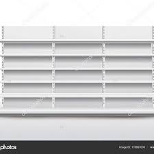 White Empty Store Shelves Retail Shelf Rack Showcase Display