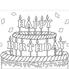 Print Out Coloring Birthday Cards