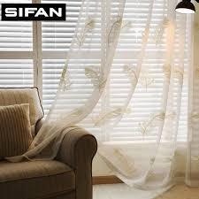 new weiß blau feder bestickt voile vorhänge für wohnzimmer das schlafzimmer gardinen tüll vorhänge stoff vorhänge