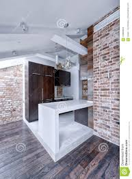 100 Loft Style Home Kitchen Interior Style Renovation Design Stock Photo