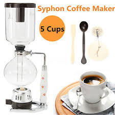 Image Is Loading 3 Cups Glass Syphon Coffee Maker Machine Brewer