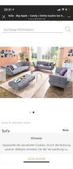 sofa sitzgarnitur 3 2 in 50769 köln für 1 299 00 zum