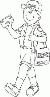 10 Pics Of Mailman Community Helper Coloring Pages