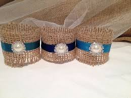 This Listing Is For A Set Of 50 Beautiful Blue Satin Rustic Napkin Holders Your