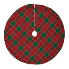 Tristan Cherry Red Traditional Christmas Decor Tree Skirt