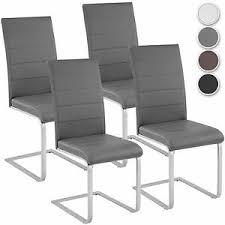 details zu 4er set esszimmerstuhl freischwinger stuhl set stühle polsterstuhl schwingstuhl