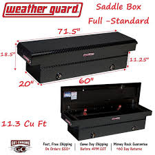 100 Weatherguard Truck Box 127502 Weather Guard Black Aluminum Saddle 71 Full Standard