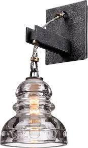 troy lighting menlo park 1 light wall sconce silver finish