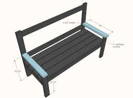 outdoor wood bench seat plans