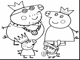 Extraordinary Peppa Pig Coloring Pages With Guinea And Online