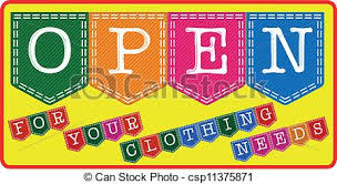 Clothing Store Open Sign