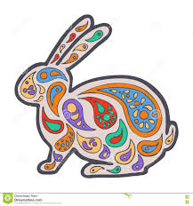 Zentangle And Zendoodle Hare Zen Tangle Doodle Animal Coloring Book Wildlife Rabbit Vector