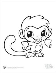 Baby Animal Coloring Page Learning Friends Monkey Printable From Leapfrog The