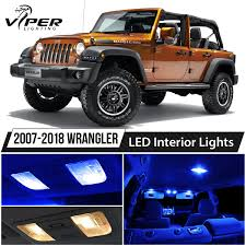2007-2018 Jeep Wrangler Blue LED Interior Lights Package Kit + ...