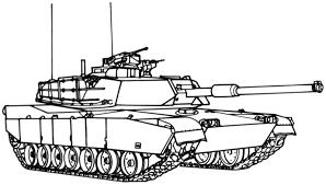 Coloring Page Tank Transportation 27