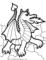 Download Coloring Pages Dragon Page Cartoon And Print For Free