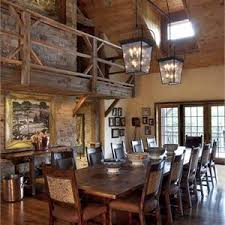 country rustic country open dining room photos