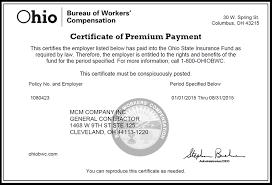 bureau workers comp mcm company inc cleveland oh construction management