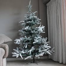Christmas Tree Flocking Spray Uk by 2 1m Snowy Noblis Fir Artificial Christmas Tree