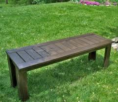 outdoor furniture bench plans plans diy free download peel and