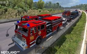 100 Fire Trucks Unlimited Trucks In Traffic With Siren And Flashing Lights ETS2 127XX