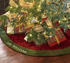 Large Christmas Tree Skirts Velvet Skirt Red With Green Cuff Saved View Larger Oversized