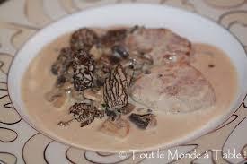 cuisiner les morilles croûte aux morilles tout le monde à table