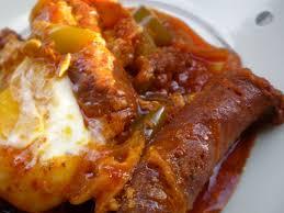 recettes de cuisine tunisienne chakchouka tunisienne aux merguezs et romdhan moubarek filkoujina