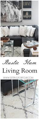 Come See My Rustic Glam Living Room Makeover And New Area Rug Im