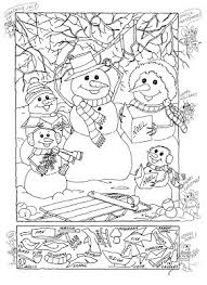 Christmas Hidden Pictures Coloring Pages Printable Sheets In 2017