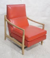 Red Vinyl Wood Frame Mid Century Lounge Chair. Ta - Dec 18, 2018 ... Noble House Zion Industrial Teak Brown Armed Wood Outdoor Lounge Chairs With Rustic Metal Frame 2pack Arc Lounge Chair From Moving Mountains Clippings Elegant Chair In Fabric Not Just Bully Ottoman Set Black The Folio Has A Solid Wood Frame An Upholstered Bernard Palecek Davenport Coastal Beach Rattan Back Lento Leather Aal 82 Hay Spruce Up Your Backyard Modern Fniture Edwin Aframe 1069 Lc2 Lugo Robin