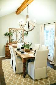 Fixer Upper Dining Rooms Room Layout Lighting