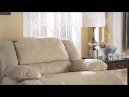 hogan khaki reclining living room set from ashley youtube