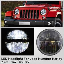 100 Jeep Wrangler Truck Conversion Kit 7 Inch LED Headlight S With Super Bright LEDs Light