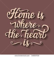 Paper Cut Calligraphic Script Home Is Where The Heart
