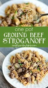 Ground Beef Stroganoff Recipe Collage