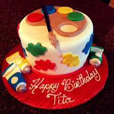 Cakes Decorated With Candy by Art Themed Birthday Cake For The Artist At Home Fabulous Cake