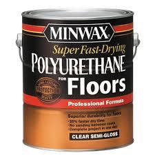 Applying Minwax Polyurethane To Hardwood Floors by Minwax 1 Gal Clear Semi Gloss Super Fast Drying Polyurethane For